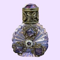 Vintage Miniature Jeweled Scent Bottle