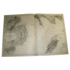 IRISH SEA, Lough Carlingford to Lough Larne including Part of Scotland, 1890 edition