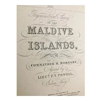 MALDIVE ISLANDS, sheet 3, 1918 edition sea chart