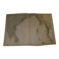 BAY OF BENGAL, 1880 edition British Admiralty sea chart