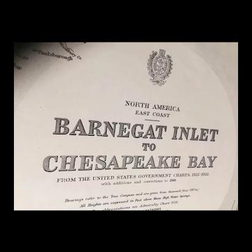 USA, east coast - Barnegat Inlet to Chesapeake Bay, 1923