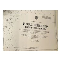 AUSTRALIA, Victoria - Port Phillip, west channel, 1935 edition sea chart