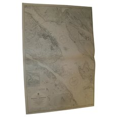 Halifax Harbour, Nova Scotia - A Vintage British Admiralty sea chart, 1931 edition