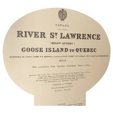 RIVER ST. LAWRENCE, Goose Island to Quebec, 1924 edition