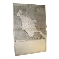 HALIFAX, Nova Scotia - Bedford Basin, 1918 edition chart