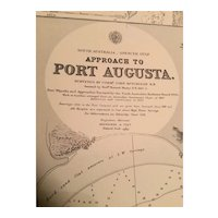 Australia, Approach to Port Augusta, a vintage sea chart from 1917