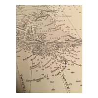 Cape Horn to Cape Corrientes, a vintage sea chart from 1935