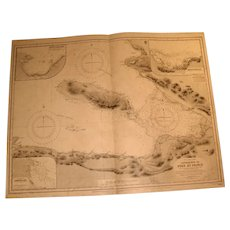WEST INDIES, Haiti - Approaches to Port au Prince, 1933 edition chart