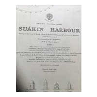 RED SEA, western shore - Suakin Harbour, 1885 edition