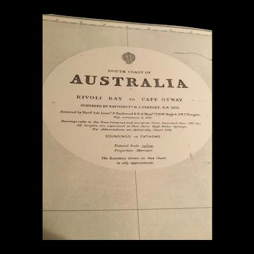 South Australia, Rivoli Bay to Cape Otway, 1909 edition