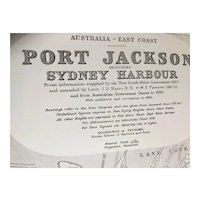AUSTRALIA, Port Jackson & Sydney Harbour, 1963 edition British Admiralty sea chart