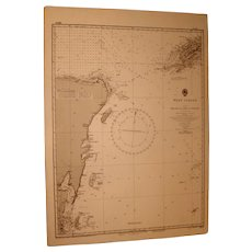 WEST INDIES, Belize to Cabo Catoche, 1915 edition chart