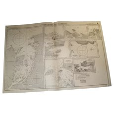 NEW GUINEA, Anchorages on the north-west coast, 1934 edition sea chart