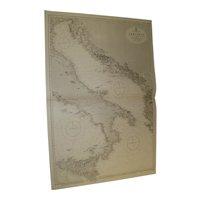 THE ADRIATIC SEA, 1920 edition British Admiralty sea chart