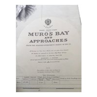 SPAIN, west coast - Muros Bay & Approaches, 1915 edition