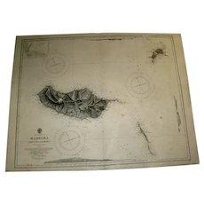 The Islands of Madeira, Porto Santo & Dezertas, 1917 edition sea chart