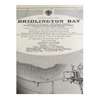England, Bridlington Bay, 1932 edition British Admiralty sea chart