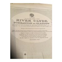 The River Clyde from Dumbarton to Glasgow - British Admiralty sea chart 1922