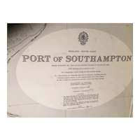 ENGLAND, Port of Southampton, 1957 edition British Admiralty sea chart
