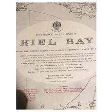 BALTIC SEA, Kiel Bay, 1921 edition