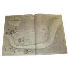 ENGLAND, River Thames - Broadness to Mucking Flats, 1939 edition sea chart
