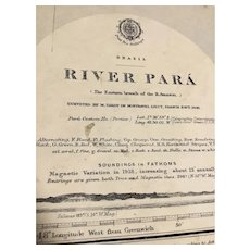 BRAZIL, River Para (the eastern branch of the River Amazon), 1912 edition