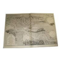 THE RIVER THAMES from London to Gravesend, 1905 edition sea chart