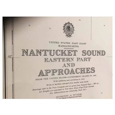 USA - Nantucket Sound (Eastern Part) & Approaches, 1958 edition British Admiralty chart