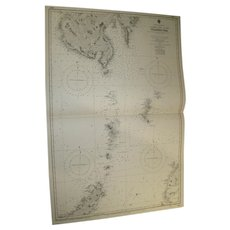 INDONESIA, Eastern Part of The Celebes Sea, 1944 edition sea chart