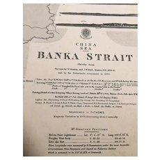 CHINA SEA - Banka Strait, 1858 edition