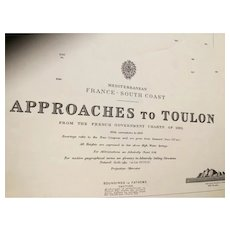 FRANCE, south coast - Approaches to Toulon, 1913 edition