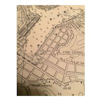 Approaches to Keelung, Taiwan - A Vintage British Admiralty sea chart, 1957 edition