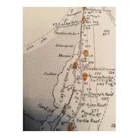 Delaware Bay to The Florida Strait, USA, 1924 edition British Admiralty sea chart