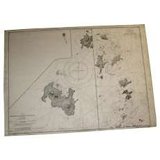 CENTRAL AMERICA, west coast - Plans in the Bay of Panama, 1861 edition