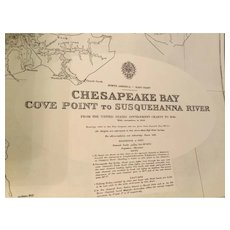 USA, east coast - Chesapeake Bay, Cove Point to Susquehanna River, 1944 edition