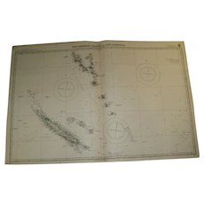 New Hebrides Islands & New Caledonia, 1913 edition chart
