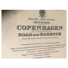 DENMARK, Copenhagen Road & Harbour, 1901 edition