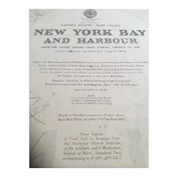 USA, New York Bay & Harbour, 1919 edition British Admiralty chart