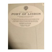 PORTUGAL, Port of Lisbon, 1964 edition original sea chart