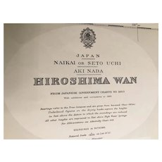 JAPAN, Hiroshima Wan, 1914 edition chart