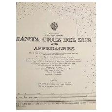 CUBA, south coast - Santa Cruz Del Sur & Approaches, 1921 edition chart
