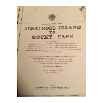 Tasmania, Albatross Island to Rocky Cape, 1920 edition