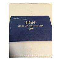 BOAC Junior Jet Club Log Book 1965