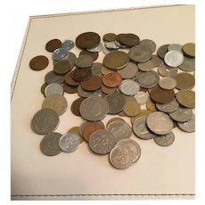Job lot 90 foreign coins including pre-Euro European