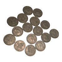 16 x British 2 Shilling Coins dated 1949