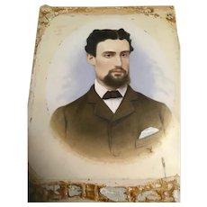 Victorian Hand Coloured Photo of a Gentleman, circa 1900