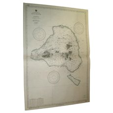 NORTH PACIFIC OCEAN, Truck Islands, 1944 edition US Navy chart