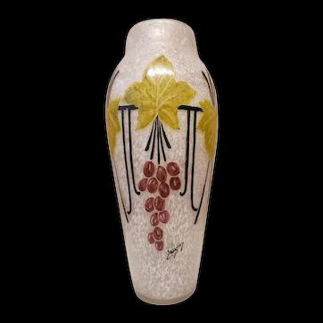 French Verrerie Legras Art Vase
