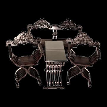 19th Century Savonarola Seating Set - 4 Pieces
