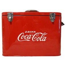 1950's Restored Coca-Cola Airline Cooler Chest